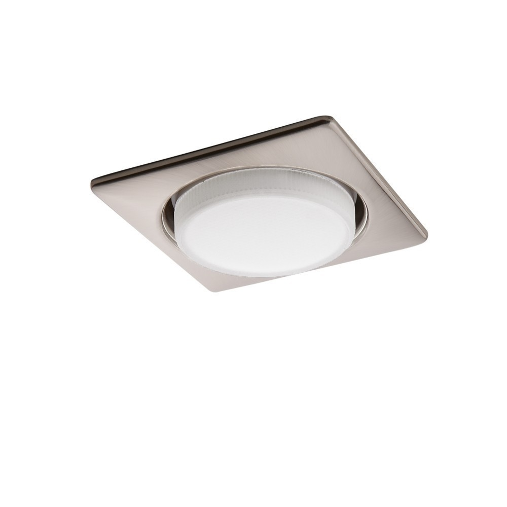 Lightstar Светильник TENSIO Q GX53 H4 220V SQUARE SATIN CHROME (в комплекте)