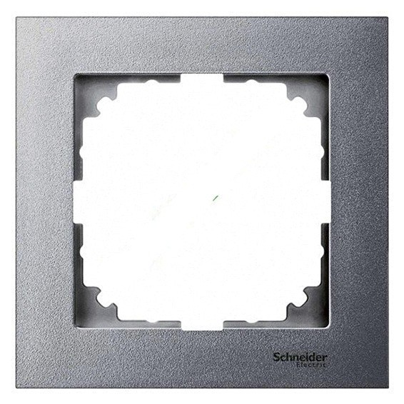 Рамка 1 пост Schneider Electric MERTEN M-PURE, алюминий, MTN4010-3660
