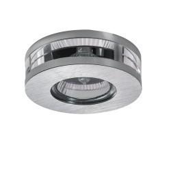 Lightstar (003920) Светильник ALUME CYL LO MR16/HP16 АЛЮМ ХРОМ/ПРОЗРАЧНЫЙ (в комплекте)