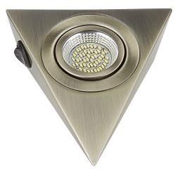 Lightstar Светильник MOBILED ANGO LED 3.5W 270LM 90G БРОНЗА ЗЕЛЕНАЯ 4000K, 003341