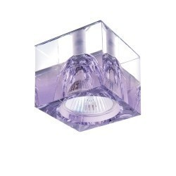 Lightstar -G5.3 Светильник META VI  ХРОМ/ПРОЗРАЧНЫЙ, СИРЕНЕВЫЙ, 004149