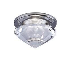 Lightstar  (GM743-CR) Светильник DIAMAND HI TR MR16  ХРОМ/ПРОЗРАЧНЫЙ, 009004