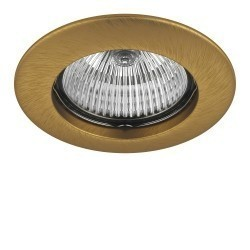 Lightstar Светильник TESO FIX MR16/HP16 ЛАТУНЬ, 011073