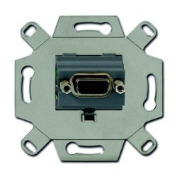 Розетка VGA ABB коллекции BJE, серый, 0230-0-0426