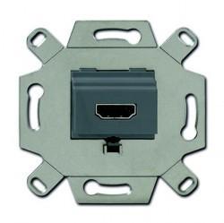 Розетка HDMI ABB коллекции BJE, серый, 0230-0-0432