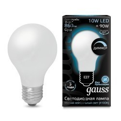 Лампа Gauss LED Filament A60 102202210-D