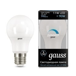 Gauss LED A60 dimmable 102502211-D