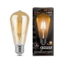 Лампа Gauss LED Filament ST64 102802006