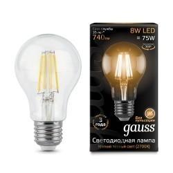 Лампа Gauss LED Filament A60 102802108