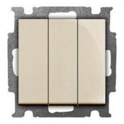 Выключатель 3-клавишный ABB BASIC55, скрытый монтаж, слоновая кость, 1012-0-2158