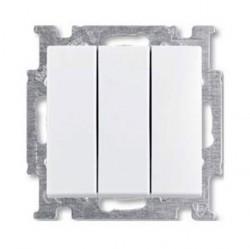 Выключатель 3-клавишный ABB BASIC55, скрытый монтаж, альпийский белый, 1012-0-2155