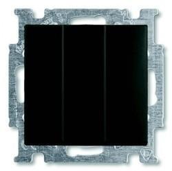 Выключатель 3-клавишный ABB BASIC55, скрытый монтаж, château-black, 1012-0-2173