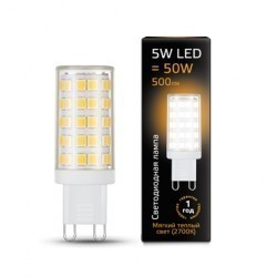 Лампа Gauss LED G9 5W 107309105