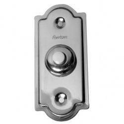 Выключатель 1-клавишный кнопочный Fontini GARBY, открытый монтаж, хром, 14010512