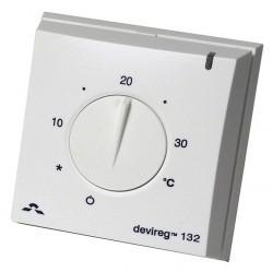 Терморегулятор DEVIreg 132 с датчиками пола и воздуха, накладной