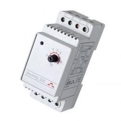 Терморег. DEVIreg 330, +5°C...+45°C с датч. на проводе. Щитовой, 2 модуля.