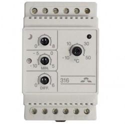 Терморегулятор DEVIreg 316, I: -10°C...+50°C, II: -10°C...+5°C, с датчиком на проводе.
