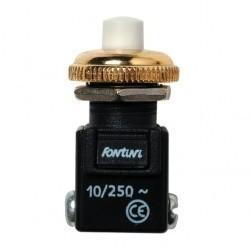 Выключатель 1-клавишный кнопочный Fontini GARBY, открытый монтаж, золотой, 14310502