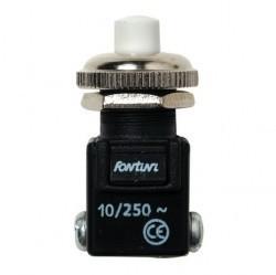 Выключатель 1-клавишный кнопочный Fontini GARBY, открытый монтаж, хром, 14310512
