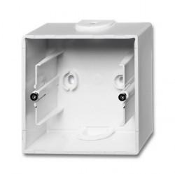 1799-0-0974 Basic55 Коробка 1-ная для откр. проводки, альп. белый