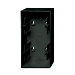 1799-0-0966 Basic55 Коробка 2-ная для откр. проводки, château-black