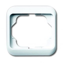 Рамка 1 пост ABB ALPHA NEA, белый глянцевый, 1754-0-4503
