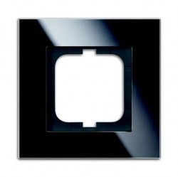 Рамка 1 пост ABB CARAT, черное стекло, 1754-0-4322
