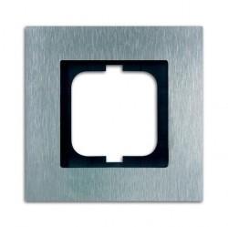 Рамка 1 пост ABB CARAT, стальной, 1754-0-4254