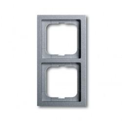 Рамка 2 поста ABB FUTURE LINEAR, серебристо-алюминиевый, 1754-0-4530