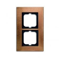 Рамка 2 поста ABB CARAT, бронзовый, 1754-0-4259