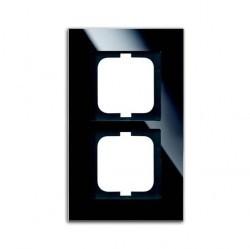 Рамка 2 поста ABB CARAT, черное стекло, 1754-0-4323