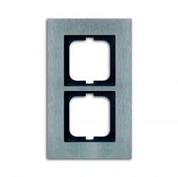 Рамка 2 поста ABB CARAT, стальной, 1754-0-4255