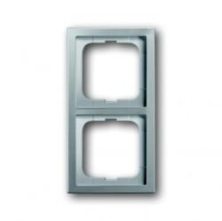 Рамка 2 поста ABB PURE СТАЛЬ, стальной, 1754-0-4501