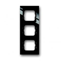 Рамка 3 поста ABB BUSCH-AXCENT, черный, 1753-0-4128