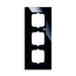 Рамка 3 поста ABB CARAT, черное стекло, 1754-0-4324