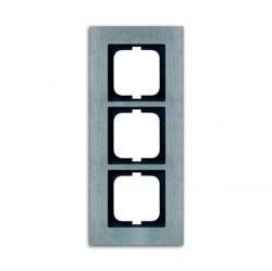 Рамка 3 поста ABB CARAT, стальной, 1754-0-4256