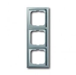 Рамка 3 поста ABB PURE СТАЛЬ, стальной, 1754-0-4319