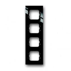 Рамка 4 поста ABB BUSCH-AXCENT, черный, 1754-0-4412