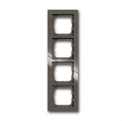 Рамка 4 поста ABB BUSCH-AXCENT, entrée-grey, 1754-0-4474