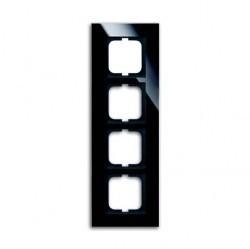 Рамка 4 поста ABB CARAT, черное стекло, 1754-0-4325
