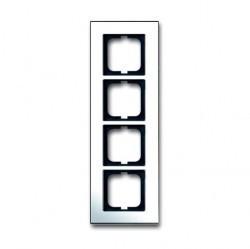 Рамка 4 поста ABB CARAT, горизонтальная, хром, 1754-0-4363