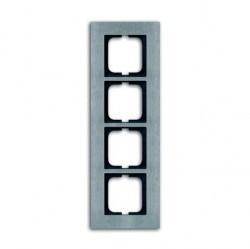 Рамка 4 поста ABB CARAT, стальной, 1754-0-4257