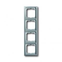 Рамка 4 поста ABB PURE СТАЛЬ, стальной, 1754-0-4320