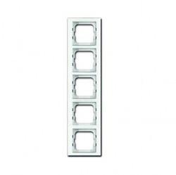 Рамка 5 постов ABB BUSCH-AXCENT, белый, 1754-0-4441