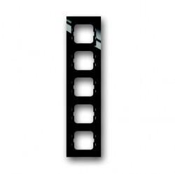 Рамка 5 постов ABB BUSCH-AXCENT, черный, 1754-0-4413