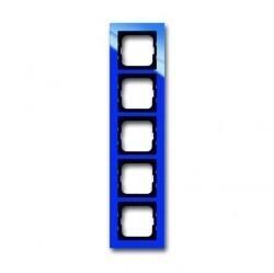 Рамка 5 постов ABB BUSCH-AXCENT, синий, 1754-0-4355