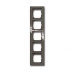 Рамка 5 постов ABB BUSCH-AXCENT, entrée-grey, 1754-0-4475