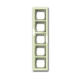 Рамка 5 постов ABB BUSCH-AXCENT, chalet-white, 1754-0-4490