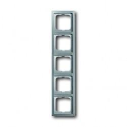 Рамка 5 постов ABB PURE СТАЛЬ, стальной, 1754-0-4321