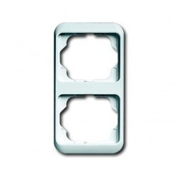 Рамка 2 поста ABB ALPHA NEA, вертикальная, белый глянцевый, 1754-0-4528
